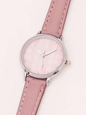 Różowy Damski Zegarek Z Dżetami