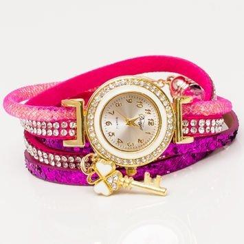 Różowy Zegarek Damski