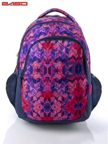 Różowy plecak szkolny dla dziewczynki z etnicznym motywem