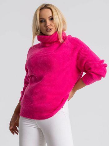 Różowy sweter plus size Hannah
