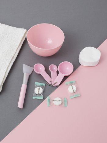 Różowy zestaw do maseczek na twarz