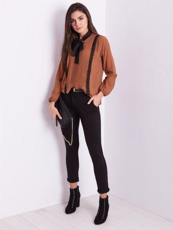 SCANDEZZA Czarne spodnie damskie
