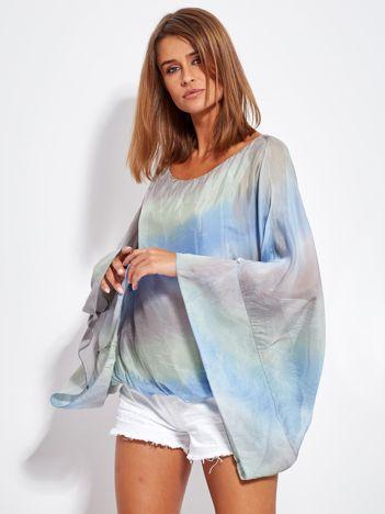 SCANDEZZA Niebiesko-szara zwiewna bluzka ombre