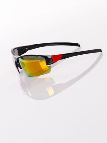 SPORTOWE lustrzane męskie okulary przeciwsłoneczne