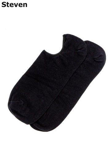 STEVEN Krótkie skarpety męskie stopki czarne