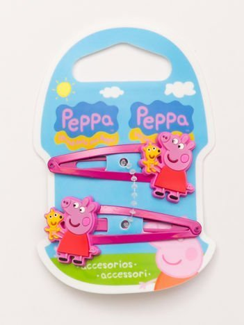 ŚWINKA PEPPA Zestaw 2 szt. różowych spinek do włosów dla dziewczynki
