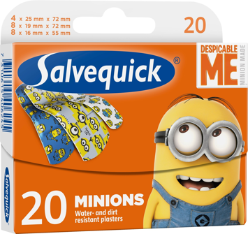 "Salvequick Plastry Minions dla dzieci  1 op.-20szt"""