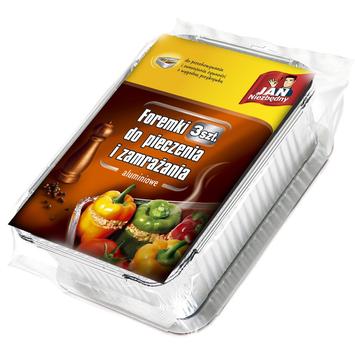 Sarantis Jan Niezbędny Foremki aluminiowe do pieczenia i zamrażania 3 szt.
