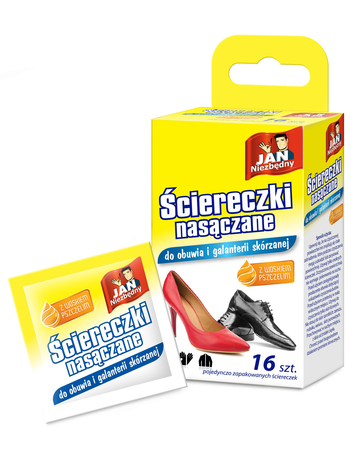 Sarantis Jan Niezbędny Ściereczki nasączane do butów i galanterii skórzanej 16 szt.