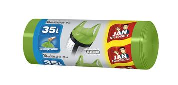 Sarantis Jan Niezbędny Worki na śmieci zapachowe 35L zielone 30 szt.