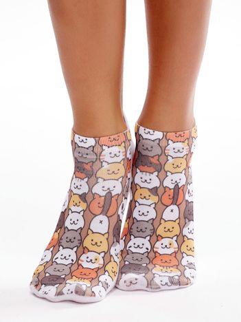 Skarpety stopki w zabawne koty