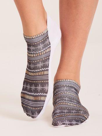 Skarpety stopki we wzory