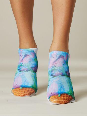Skarpety stopki z kolorowym printem