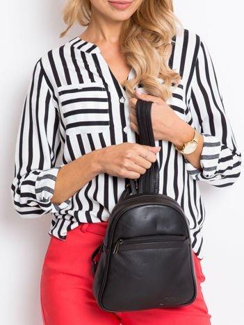 Skórzany czarny plecak