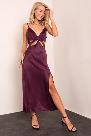 Śliwkowa sukienka BSL