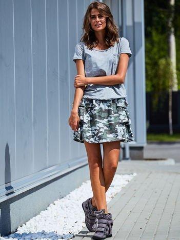 Spódnica damska z motywem moro niebieska