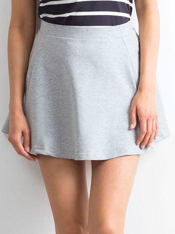 Spódnica rozkloszowana jasnoszara