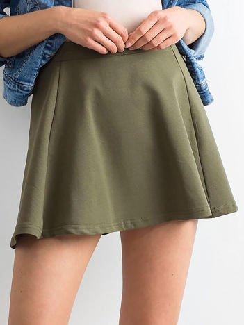 Spódnica rozkloszowana khaki