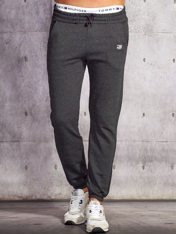 Spodnie dresowe męskie ciemnoszare