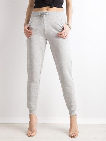 Spodnie dresowe z bawełny szare