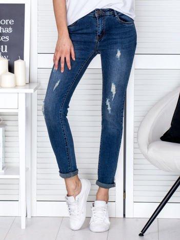 Spodnie jeansowe niebieskie vintage