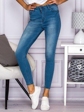 Spodnie jeansowe skinny high waist niebieskie