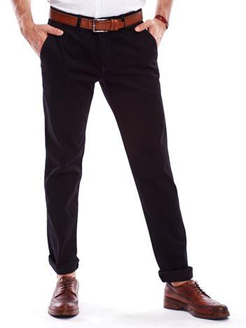Spodnie męskie czarne o prostym kroju