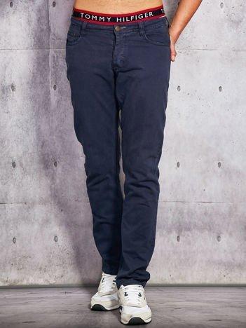 Spodnie męskie o prostym kroju granatowe