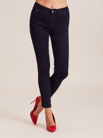 Spodnie slim fit ciemnoniebieskie
