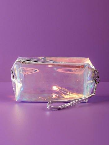 Srebrna kosmetyczka hologramowa