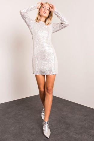 Srebrna sukienka BSL