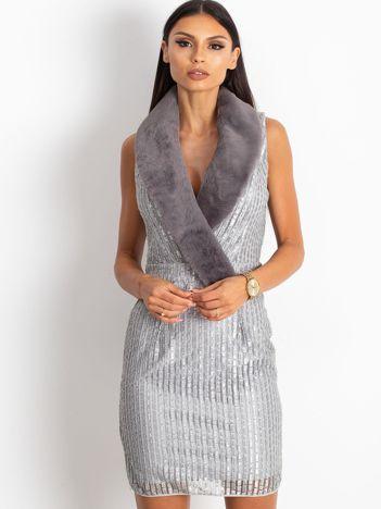 Srebrna sukienka Boost