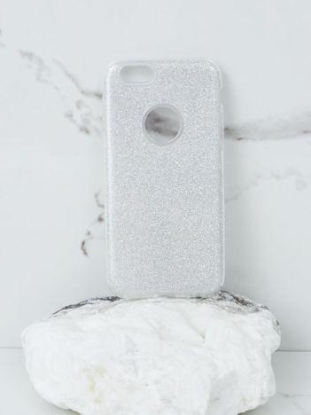 Srebrne brokatowe etui do iPhone 6G Plus