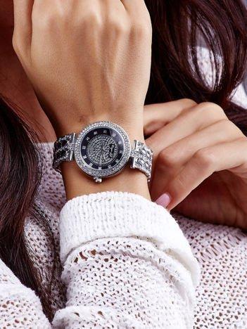 Srebrny Zegarek Damski Na Bransolecie