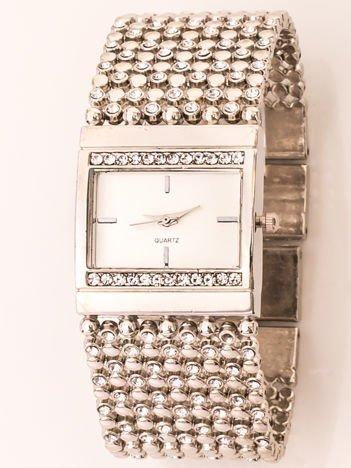 Srebrny Zegarek Damski Na Ozdobnej Bransolecie