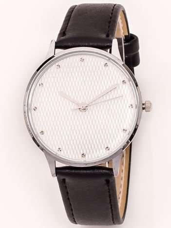 Srebrny Zegarek Damski Z Dżetami