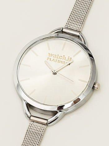 Srebrny zegarek damski na delikatnej bransolecie