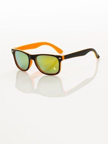 Stylowe okulary dziecięce z klasyczną oprawką WAYFARER NERD odporne na wyginania