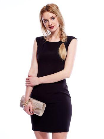 Sukienka czarna z wiązaniem z tyłu