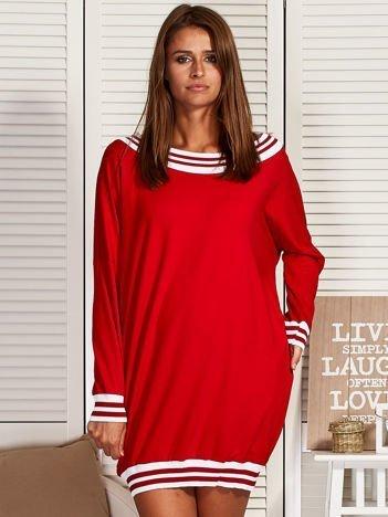 Sukienka hiszpanka z kieszeniami czerwona