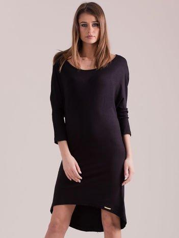 Sukienka oversize z obniżoną linią ramion czarna