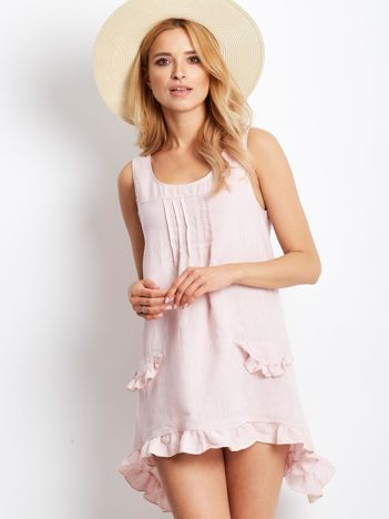 Sukienka różowa z falbankami