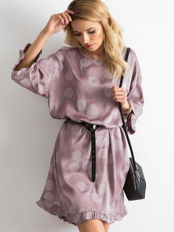 Sukienka we wzory fioletowa