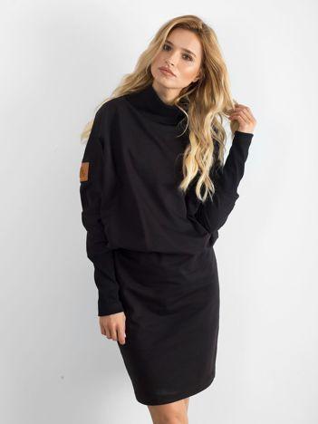 Sukienka z golfem BY O LA LA czarna