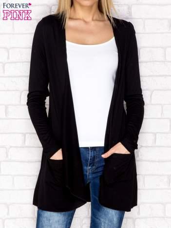 Sweter bez zapięcia czarny