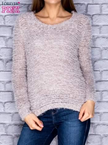 Sweter damski beżowy long hair