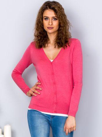 Sweter jasnoróżowy na guziki