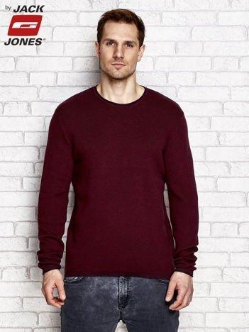 Sweter męski basic bordowy