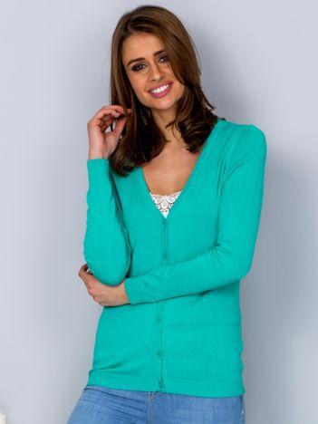 Sweter zielony na guziki