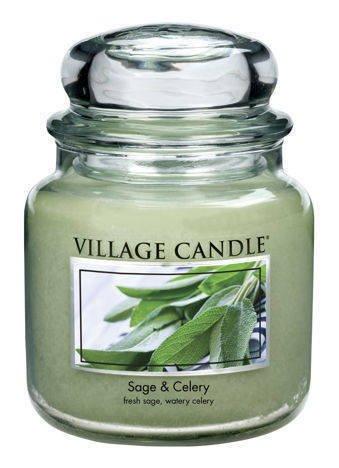 Świeca zapachowa Village Candle ŚREDNIA 453 gr - Sage & Celery